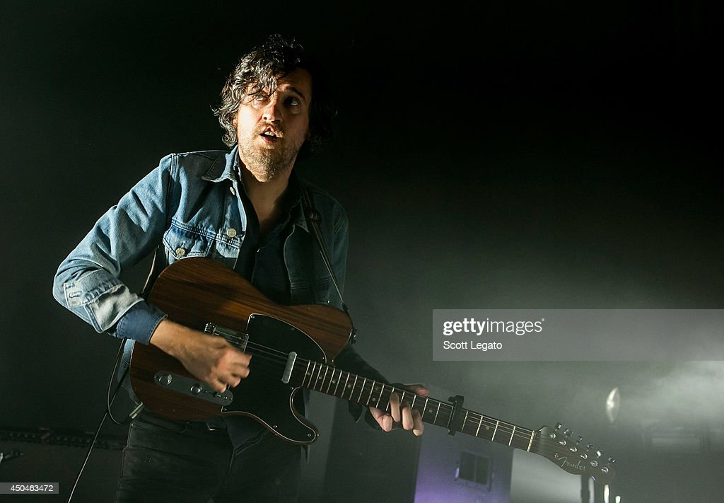 Laurent Brancowitz of Phoenix performs at The Fillmore on June 11, 2014 in Detroit, Michigan.