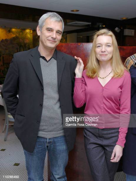 Laurent Cantet and Karen Young during RendezVous with French Cinema 2006 Press Lunch with Nathalie Baye at Josephina in New York New York United...