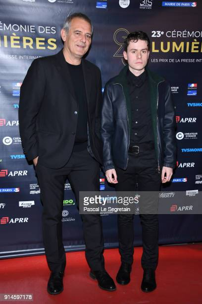 Laurent Cantet and Matthieu Lucci attend the 23rd Lumieres Award Ceremony at Institut du Monde Arabe on February 5 2018 in Paris France