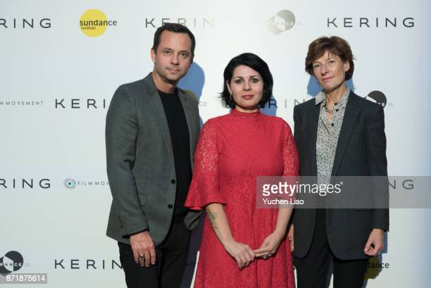 Laurent Claquin and Maysaloun Hamoud and Patricia Barbizet attend Kering Presents Women In Motion A Special Screening of 'In Between' at Crosby...