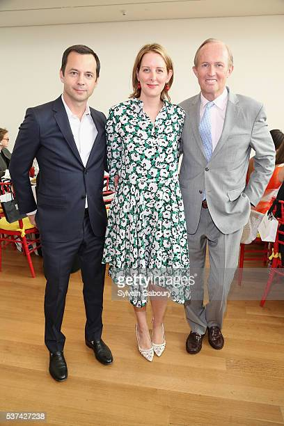 Laurent Claquin Jacqueline Sackler and Mark Gilbertson attend the Museum of the City of New York Spring Symposium and Luncheon at New York Academy of...
