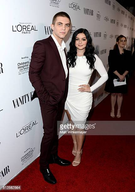 Laurent Claude Gaudette and actress Ariel Winter attend a DJ night hosted by Vanity Fair L'Oreal Paris Hailee Steinfeld at Palihouse Holloway on...
