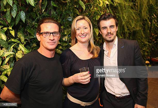 Laurent Corrachi Julie Royer and Francois Hourcastagnou attend The PHYTO The Nature Conservancy Earth Day Event at Phyto Universe on April 17 2012 in...