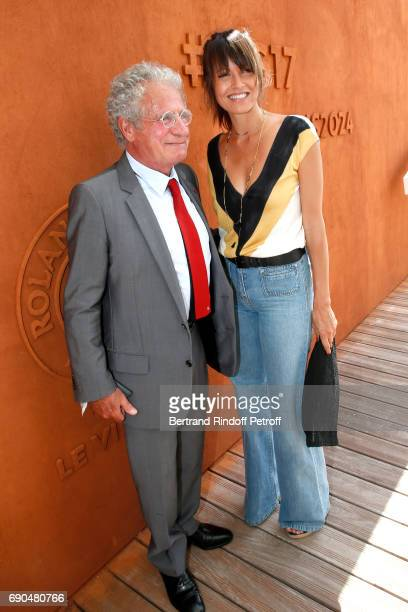 Laurent Dassault and Caroline Nielsen attend the 2017 French Tennis Open Day Four at Roland Garros on May 31 2017 in Paris France