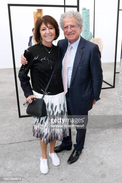 Laurent Dassault and his wife Martine attend the FIAC 2018 International Contemporary Art Fair Press Preview at Grand Palais on October 17 2018 in...