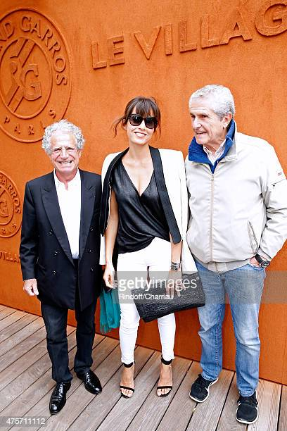 Laurent Dassault Caroline Nielsen and Claude Lelouch attend the 2015 Roland Garros French Tennis Open Day Eleven on June 3 2015 in Paris France