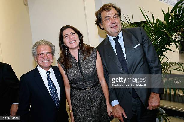 Laurent Dassault Denise and Alexandre Vilgrain attend the 'Diner des Amis du Musee d'Art Moderne' at Musee d'Art Moderne on October 21 2014 in Paris...