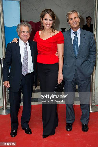 Laurent Dassault Maud Fontenoy and Vincent Bollore arrive at the Maud Fontenoy Foundation Annual Gala at Hotel de la Marine on June 7 2012 in Paris...