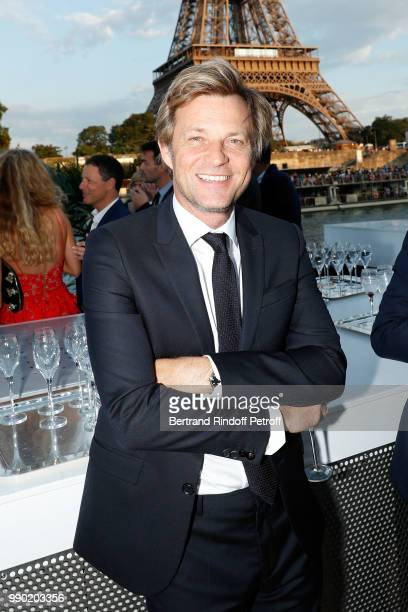 Laurent Delahousse attends Line Renaud's 90th Anniversary on July 2 2018 in Paris France