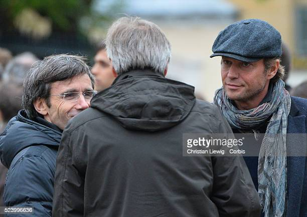 Laurent Delahousse attends the funeral of French journalist of France 2 Benoit Duquesne at the Church Jeanne d'Arc in Versailles Liewig
