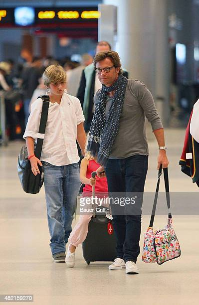 Laurent Delahousse is seen at Miami International Airport on February 27 2011 in Miami Florida
