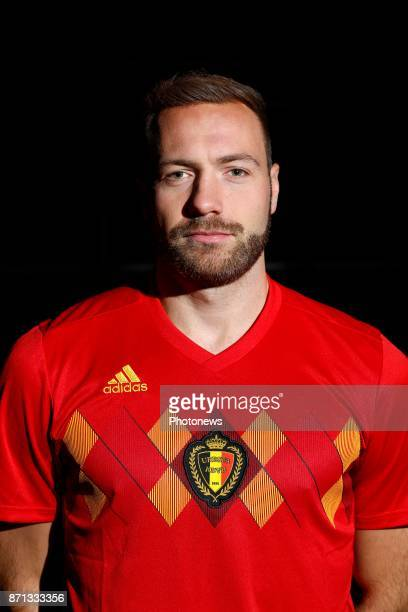 Laurent Depoitre forward of Belgium Official team picture during the photoshoot of the Red Devils at the national training center on November 07 2017...