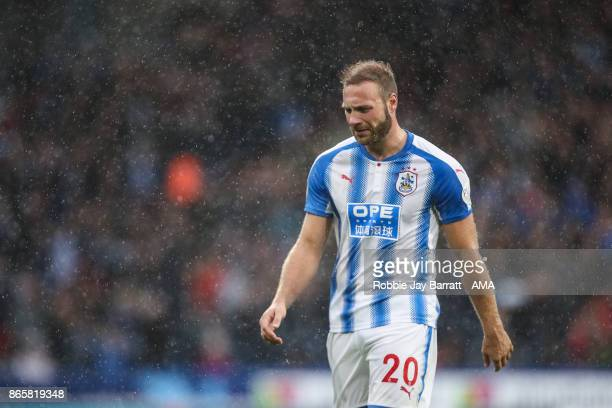 Laurent Depoitre of Huddersfield Town during the Premier League match between Huddersfield Town and Manchester United at John Smith's Stadium on...