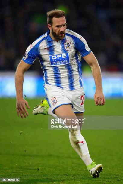 Laurent Depoitre of Huddersfield Town in action during the Premier League match between Huddersfield Town and West Ham United at John Smith's Stadium...