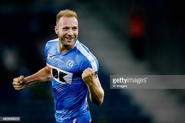 Laurent Depotre of KAA Gent during the Belgium Supercup match between Club Brugge and AA Gent on July 16 2015 at the Ghelamco Arena in Gent Belgium