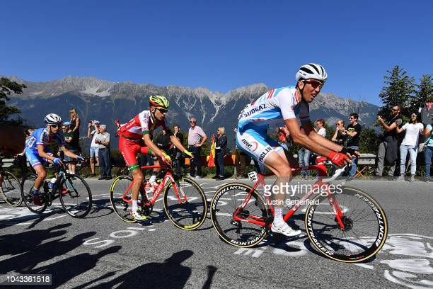 Laurent Didier of Luxembourg / Fans / Public / during the Men Elite Road Race a 2585km race from Kufstein to Innsbruck 582m at the 91st UCI Road...