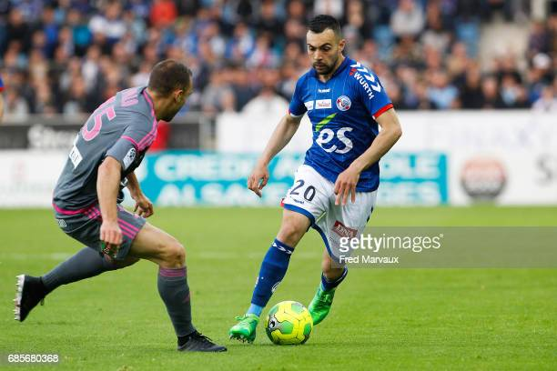 Laurent Dos Santos of Strasbourg during the Ligue 2 match between RC Strasbourg Alsace and Bourg en Bresse on May 19 2017 in Strasbourg France