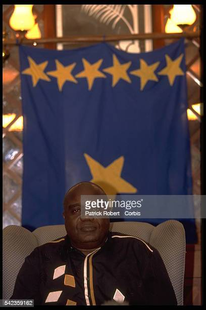 Laurent D{sir{ Kabila holds a press conference