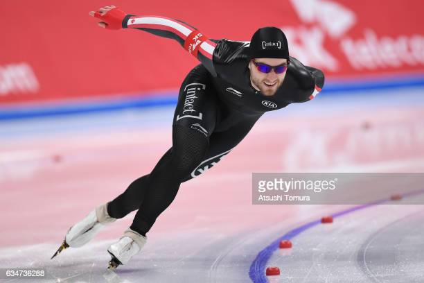 Laurent Dubreuil of Canada competes in the men 1000m during the ISU World Single Distances Speed Skating Championships Gangneung Test Event For...