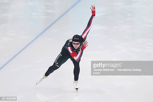 Laurent Dubreuil of Canada competes in the Men's 500m during day three of ISU World Cup Speed Skating at Alau Ice Palace on December 4 2016 in Astana...
