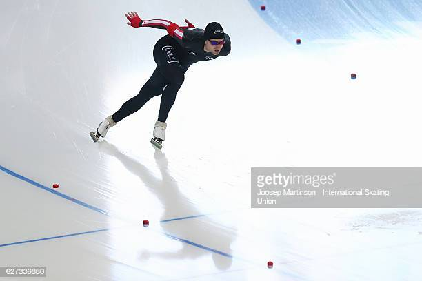 Laurent Dubreuil of Canada competes in the Men's 500m during day two of ISU World Cup Speed Skating at Alau Ice Palace on on December 3 2016 in...