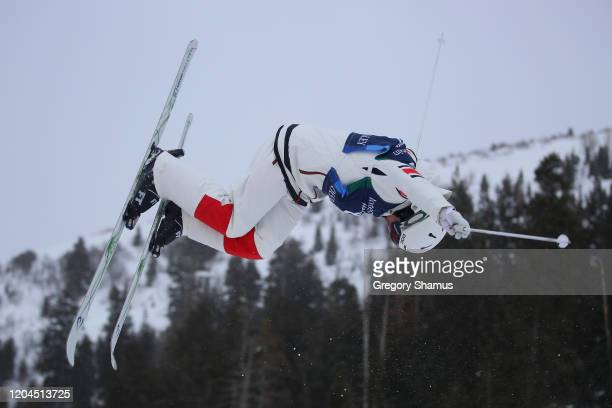 Laurent Dumais of Canada during the Mens Moguls qualification practice at the FIS Freestyle Ski World Cup on February 06, 2020 in Park City, Utah.