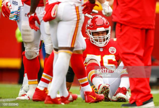 Laurent DuvernayTardif offensive guard with the Kansas City Chiefs injured his leg in the game against the Jacksonville Jaguars at Arrowhead Stadium...
