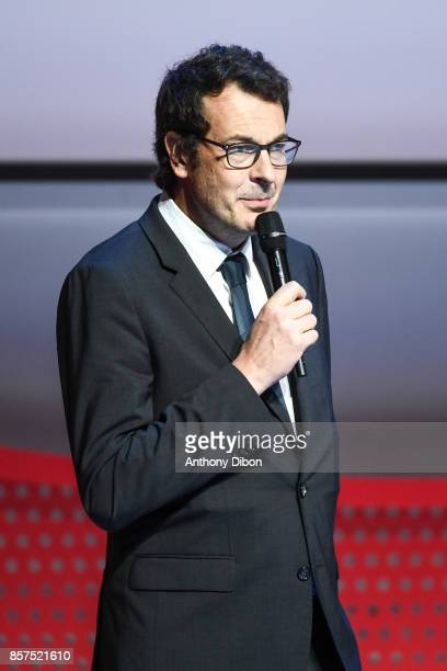 Laurent Eric Le Lay Sports director of France Television during presentation of Team France for Winter Games PyeongChang 2018 on October 4 2017 in...