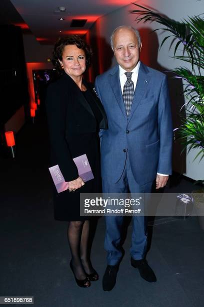 Laurent Fabius and his wife Francoise Castro attend the AROP Charity Gala with the epresentation of Carmen at Opera Bastille on March 10 2017 in...