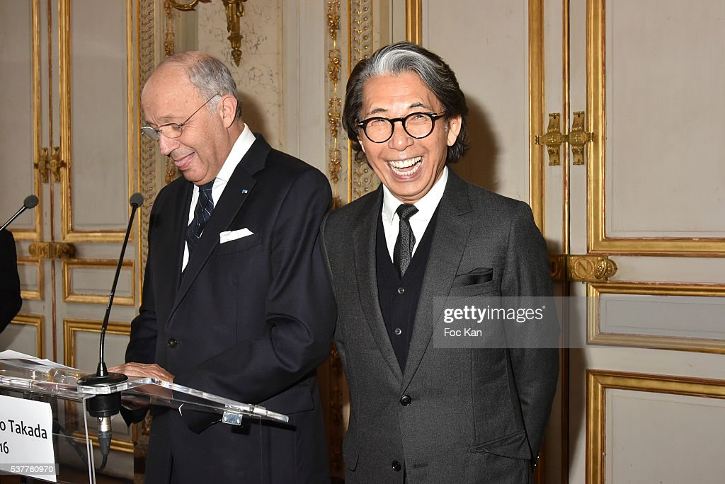 Kenzo Takada Receives the Medal of Chevalier de La Legion d'Honneur at Conseil Constitutionnel