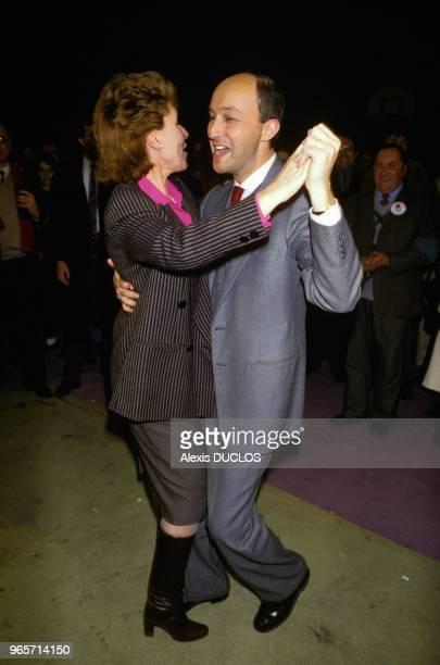 Laurent Fabius Dancing With Edith Cresson Paris February 24 1986
