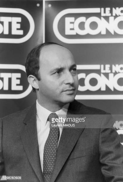 Laurent Fabius lors de le cérémonie de remise du prix du manager de l'année décerné par 'Le Nouvel Economiste' le 25 Octobre 1984.