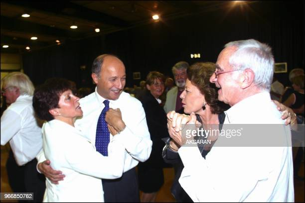 Laurent Fabius ouvrant le bal avec Françoise Imbert et s'adressant Elisabeth Malvy et Malvy, président du conseil régional Midi-Pyrénées. Laurent...