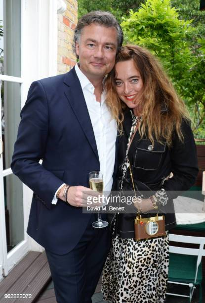 Laurent Feniou and Alice Temperley attends a private dinner hosted by Cartier to celebrate the opening of the British Polo Season at Casa Cruz on May...