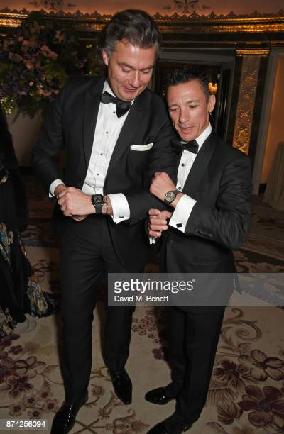 Laurent Feniou and Frankie Dettori attend The Cartier Racing Awards 2017 at The Dorchester on November 14 2017 in London England