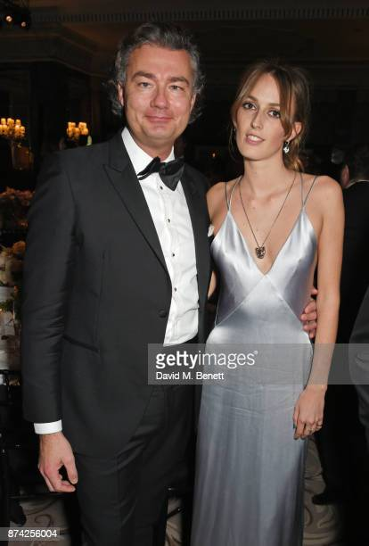 Laurent Feniou and Lady Alice Manners attends The Cartier Racing Awards 2017 at The Dorchester on November 14 2017 in London England