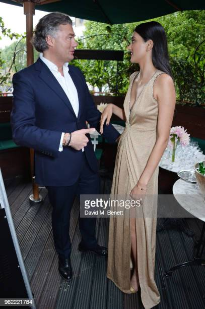 Laurent Feniou and Neelam Gill attend a private dinner hosted by Cartier to celebrate the opening of the British Polo Season at Casa Cruz on May 24...