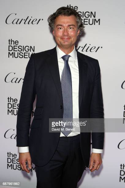 Laurent Feniou attends the private view of the 'Cartier In Motion' exhibition curated by Norman Foster at The Design Museum on May 24 2017 in London...