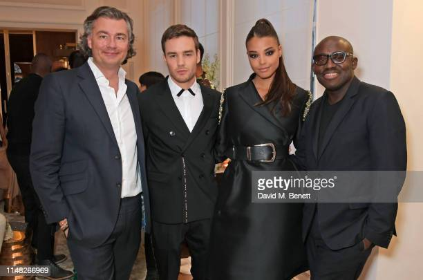 Laurent Feniou Liam Payne Ella Balinska and Edward Enninful attend the Cartier and British Vogue Darlings Dinner at the Residence at Cartier New Bond...