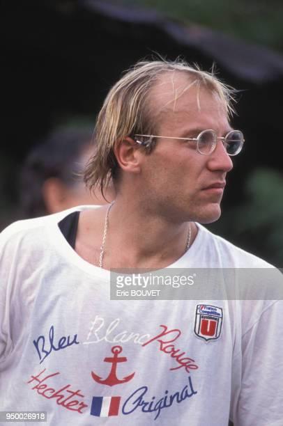 Laurent Fignon lors de son séjour en Martinique en décembre 1986.