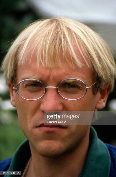 Laurent Fignon à Roland Garros le 6 juin 1986 à Paris, France.