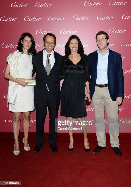 Laurent Gaborit manager director of Cartier Italia his wife and guests attend the Cartier Boutique reopening cocktail party on October 5 2012 in...