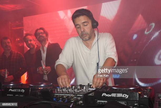 Laurent Garnier perform during the Villa Schweppes Party during the 70th annual Cannes Film Festival at on May 26 2017 in Cannes France