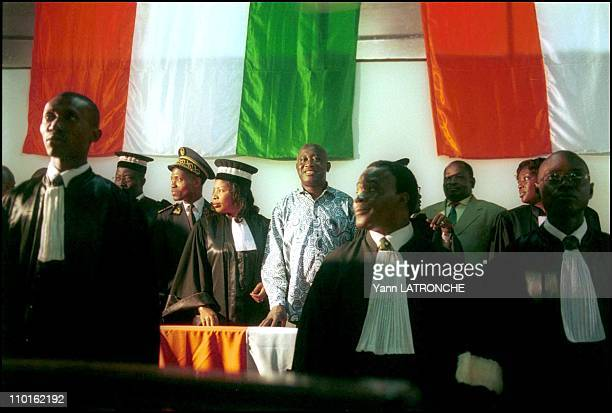 Laurent Gbagbo President of Cote D'Ivoire in Côte d'Ivoire on November 30 2001 Ivory Coast President Laurent Gbagbo on a visit during judiciary...