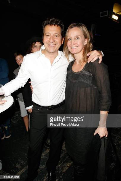 Laurent Gerra and Actress Catherine Marchal attend 'Sans Moderation' Laurent Gerra's Show at Palais des Sports on June 2 2018 in Paris France