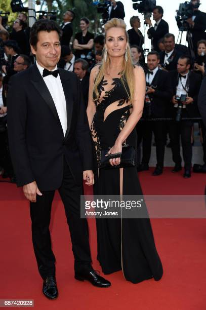 Laurent Gerra and Christelle Bardet attend the 70th Anniversary of the 70th annual Cannes Film Festival at Palais des Festivals on May 23, 2017 in...