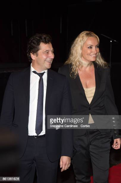 Laurent Gerra and Christelle Bardet attend the Opening Ceremony of the 9th Film Festival Lumiere on October 14, 2017 in Lyon, France.