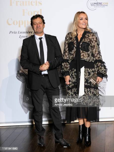 Laurent Gerra and Christelle Bardet attends the tribute to Francis Ford Coppola during the 11th Film Festival Lumiere on October 18, 2019 in Lyon,...