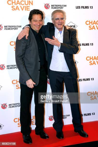 Laurent Gerra and Christophe Lambert attend the 'Chacun sa vie' Paris Premiere at Cinema UGC Normandie on March 13 2017 in Paris France