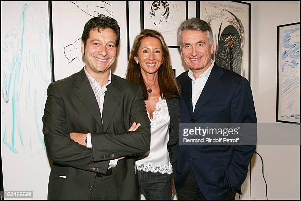 Laurent Gerra and Gilbert and Nicole Coullier at Private Viewing Of The Exhibition Where Are We Going In Venice